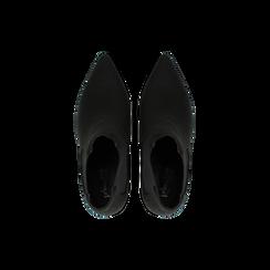 Stivaletti Chelsea neri con tacco medio a cono 8 cm, Primadonna, 124985789MFNERO, 004 preview