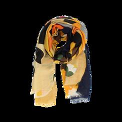 Pashmina gialla in tessuto con stampa Seventies, Abbigliamento, 14B491016TSGIALUNI, 002 preview