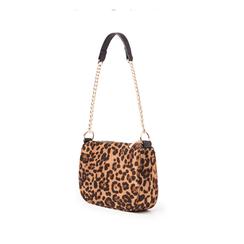 Borsa a tracolla leopard in microfibra, Borse, 145127201MFLEMAUNI, 004 preview