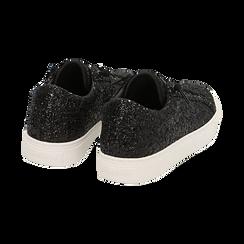Sneakers nere glitter, Primadonna, 162600308GLNERO035, 004 preview