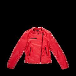 Giacca ecopelle corta rossa, Abbigliamento, 126577302EPROSS, 001a preview