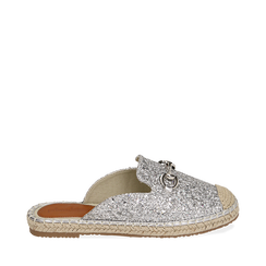 Slippers argento glitter, Primadonna, 154951159GLARGE035, 001a
