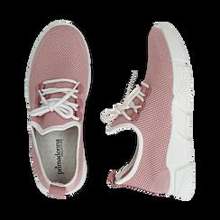 Sneakers nude in tessuto tecnico, Scarpe, 159715007TSNUDE036, 003 preview