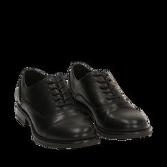 Stringate nere, tacco 4 cm, Primadonna, 160621674EPNERO035, 002a