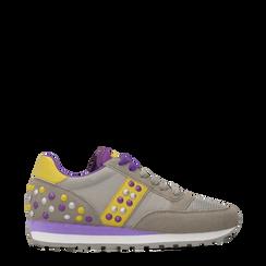 Sneakers grigie color block, Scarpe, 122618834MFGRIG036, 001a