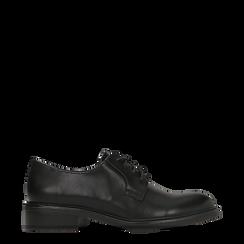 Francesine stringate nere, stile urban, Scarpe, 120618201EPNERO036, 001a