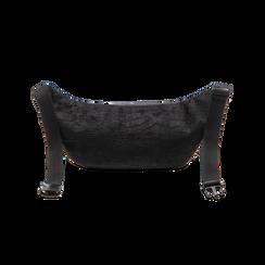 Marsupio nero in velluto, Saldi Borse, 125921084VLNEROUNI, 002 preview