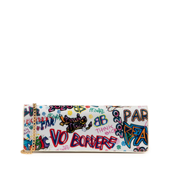 Pochette en charol con estampado de graffiti color blanco, Bolsos, 155122738VEBIMUUNI, 001a
