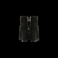 Tronchetti neri drappeggiati, tacco 9 cm, Scarpe, 120381116MFNERO, 003 preview