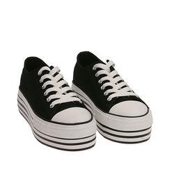 Sneakers negras de lona, Primadonna, 172642102CANERO035, 002a