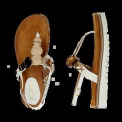 Sandali infradito bianchi in eco-pelle con suola bianca, Primadonna, 134922304EPBIAN035, 003 preview