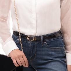 Cintura nera in vernice, Abbigliamento, 144024454VENEROUNI, 002 preview