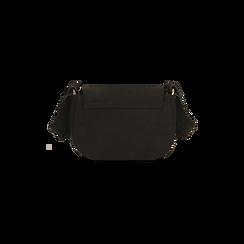 Borsa a tracolla nera in microfibra , IDEE REGALO, 165123105MFNEROUNI, 003 preview