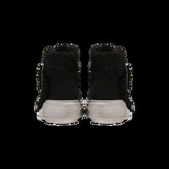 Sneakers nere con risvolto in eco-shearling, Primadonna, 124110063MFNERO, 003 preview