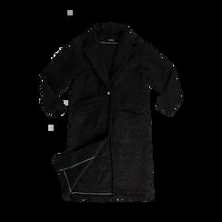 Cappotto lungo nero lavorazione shearling, Abbigliamento, 12G750756TSNERO, 001a preview