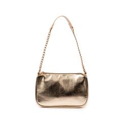 Borsa a tracolla oro in eco-pelle laminata, Primadonna, 155127201LMOROGUNI, 001 preview