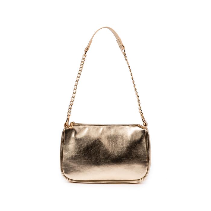 Petit sac porté épaule doré en simili-cuir brillant, Primadonna, 155127201LMOROGUNI