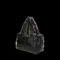 Sac noir duvet en tissu, Primadonna, 165122146TSNEROUNI, 002a
