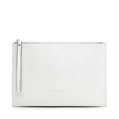Pochette rettangolare bianca in eco-pelle, Borse, 133732356EPBIANUNI, 001a