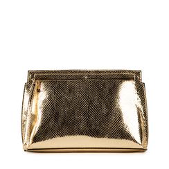 Pochette doré en simili cuir imprimé vipère, Sacs, 15D208516EVOROGUNI, 001a