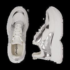 Dad shoes blanche/argent en simili-cuir, Chaussures, 15K429169EPBIAR036, 003 preview