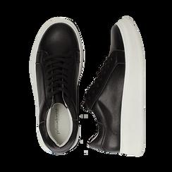 Sneakers nere in eco-pelle con suola flat, Scarpe, 132019051EPNERO036, 003 preview