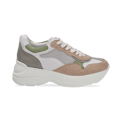 Dad shoes rosa in microfibra e tessuto tecnico, Scarpe, 132899259MFROSA036, 001 preview