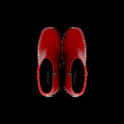 Tronchetti rossi, tacco 7,5 cm, Scarpe, 122182021EPROSS, 004 preview