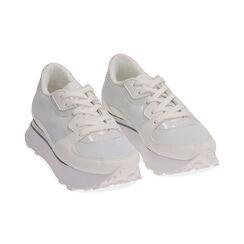 Sneakers bianche in tessuto tecnico , Primadonna, 177519601TSBIAN035, 002 preview