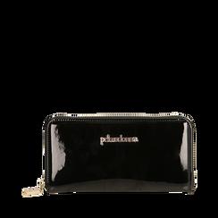 Portafogli nero in vernice, Primadonna, 155122519VENEROUNI, 001a