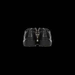 Francesine stringate nera dettagli lavorazione Duilio, Scarpe, 120851520EPNERO, 003 preview