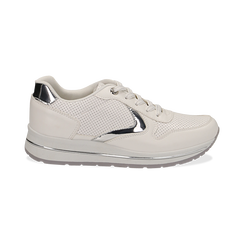Sneakers bianche in eco-pelle , Scarpe, 139300005EPBIAN035, 001a