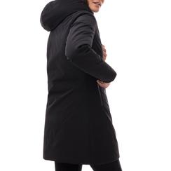 Piumino con cappuccio nero in nylon, Abbigliamento, 148500572NYNERO3XL, 002a