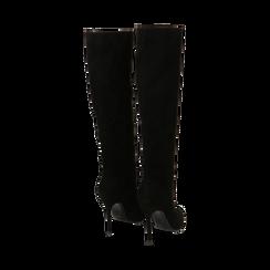 Stivali neri in microfibra, tacco 10,50 cm , Primadonna, 162146862MFNERO035, 003 preview