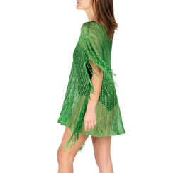 Poncho verde retinato, Primadonna, 15B402916TSVERDUNI, 002a