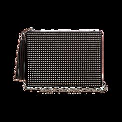 Pochette nera in microfibra, Borse, 123306939MFNEROUNI, 003 preview