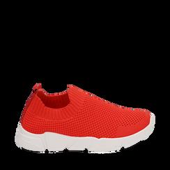 Slip-on de tela en color coral, Zapatos, 159718103TSCORA037, 001a