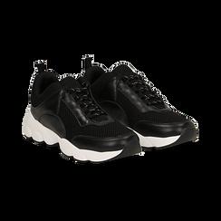 Dad shoes nere in tessuto tecnico, Scarpe, 133010051TSNERO036, 002 preview