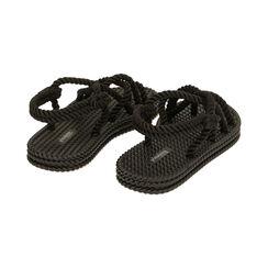 Sandalias de mar negras de tela, Primadonna, 170909002TSNERO035, 004 preview