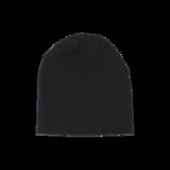 Cappello nero in tessuto con stampe, Abbigliamento, 14B406054TSNEROUNI, 002 preview