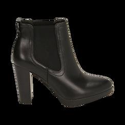 Ankle boots neri, tacco 9,50 cm , Primadonna, 160619074EPNERO038, 001 preview