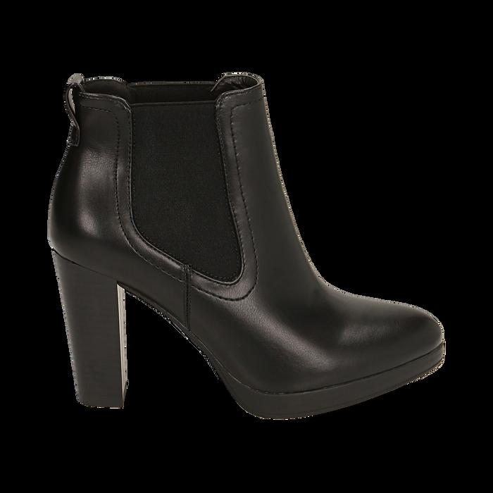 Ankle boots neri, tacco 9,50 cm , Primadonna, 160619074EPNERO038