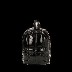 Zaino duvet nero in vernice, GIFT IDEAS, 165122936VENEROUNI, 001a