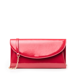 Pochette rossa in vernice, Borse, 145122502VEROSSUNI, 001a