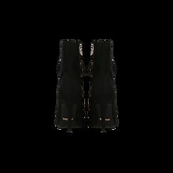 Tronchetti neri lace-up, tacco a spillo 10 cm, Scarpe, 122167016MFNERO, 003 preview