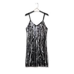 Mini-dress nero zebrato, Abbigliamento, 13A200002PLNEROL, 001a