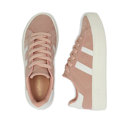 Sneakers rosa in microfibra stile vintage Seventies, Scarpe, 130101157MFROSA036, 003 preview