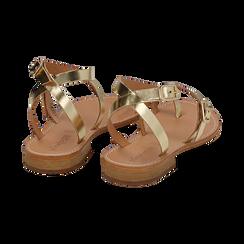 Sandali oro laminato, Scarpe, 158100570LMOROG036, 004 preview
