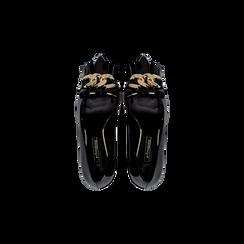 Mocassini décolleté neri in vernice, tacco 6 cm, Scarpe, 122166912VENERO, 004 preview