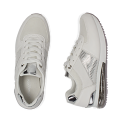 Baskets blanche en simili-cuir, Chaussures, 157311101EPBIAN035, 003 preview